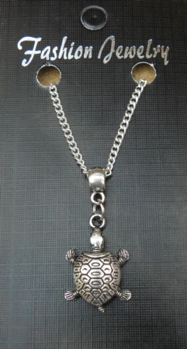 "18"" 24"" Inch Chain Necklace & Tortoise Pendant Charm Animal Lovers Gift Souvenir"